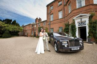 wedding limo corby, phantom rolls royce