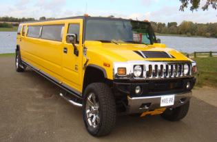 black, yellow, white hummer hire corby